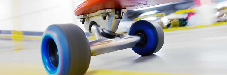 Rollen mit genug Abstand zum Board um Wheelbits zu vermeiden.