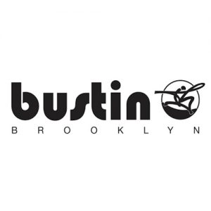 Das Logo der Longboard MArke Bustin