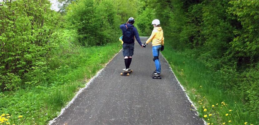 Das Longboardtreffen am Vulkanradweg