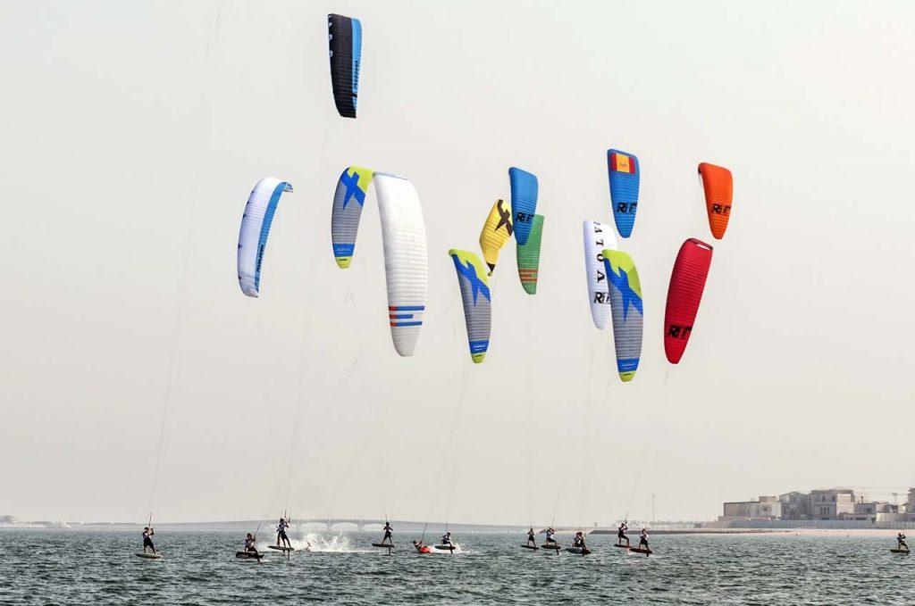 Kitesurfen bei wenig Wind Leichtwindsession
