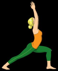Yoga Übung Krieger 1