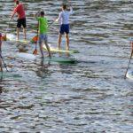 Aqua Marina SUP auf dem Wasser bei einem Ausflug