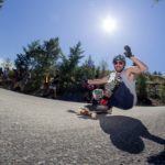 Lush Longboarding Downhill